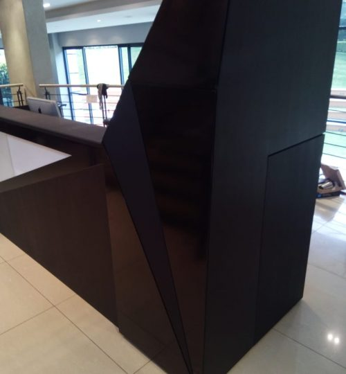 Gym Reception Custom Designed for Wellness in Motion Sandton